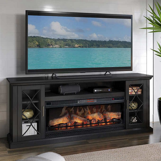 most realistic electric fireplace tv stands