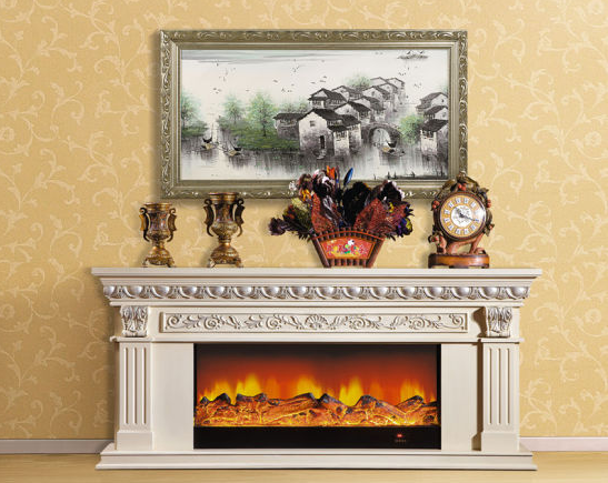 best white tv stand with fireplace