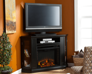 best corner tv stand with fireplace