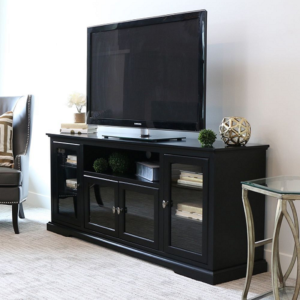 best tv stands with glass doors